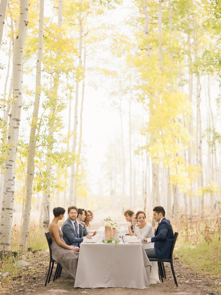 Elegant Mountain Wedding Inspiration Featured on 100 Layer Cake ...